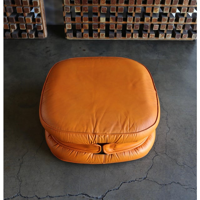 1970s I4 Mariani Leather Ottomans, 1975 - a Pair For Sale - Image 5 of 7