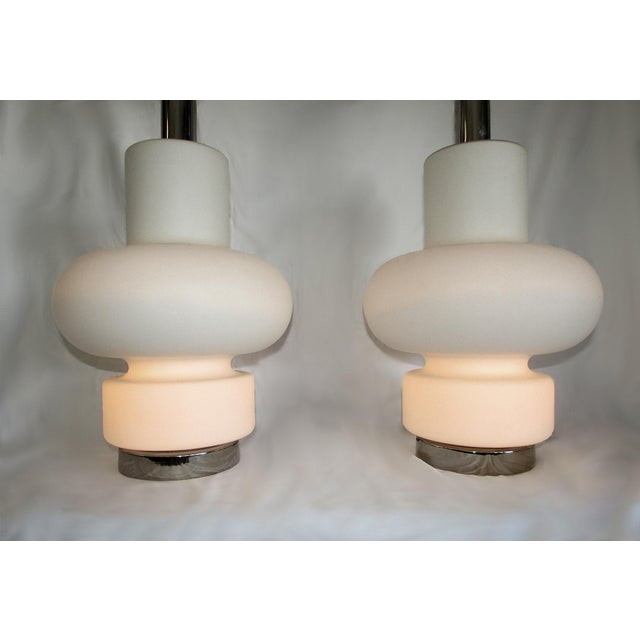 1970s 1970s Mid-Century Modern Bobo Piccoli for Laurel Table Lamps With No Shades- a Pair For Sale - Image 5 of 7