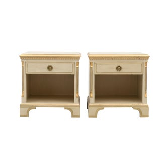 Gustavian Bedside Tables - A Pair