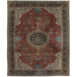 Image of 20th Century Persian Tabriz Rug - 8′9″ × 10′9″ For Sale