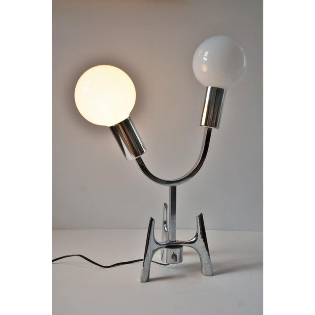1960s Mid-Century Modern Space Age Chrome Lamp For Sale - Image 10 of 12