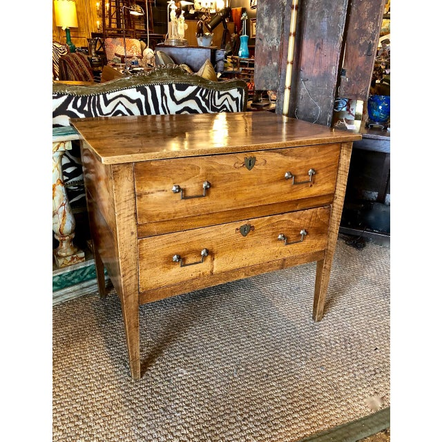 Italian Walnut Neoclassical Chest of Drawers For Sale - Image 11 of 12
