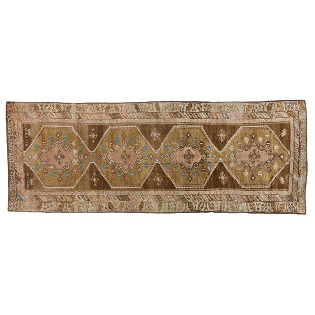 """20th Century Turkish Kars Tribal Gallery Rug - 4'4"""" X 11'7"""" For Sale - Image 4 of 5"""