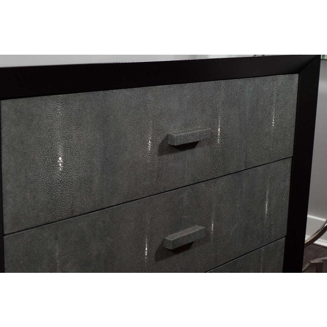 Custom Shagreen Drawer Front Dressers For Sale - Image 4 of 5