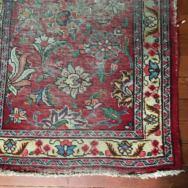 Well-Worn Persian Rug - 2′11″ × 4′6″ - Image 3 of 4