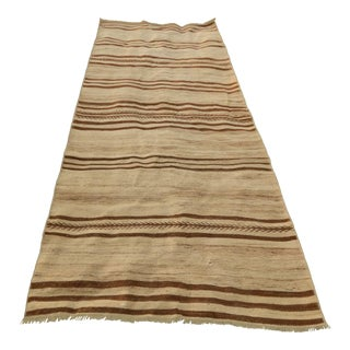 Vintage Turkish Striped Kilim Rug 3′6″ × 8′2″ For Sale