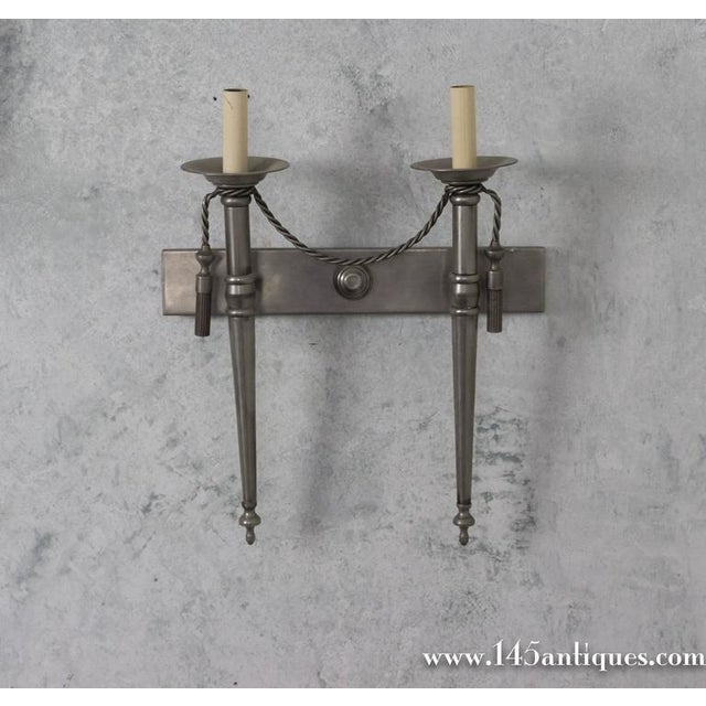 Pair of Nickel-Plated Sconces - Image 3 of 11