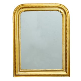 Large Arched Louis Philippe Mirror W/ Gold Gilt Frame Circa 1850s
