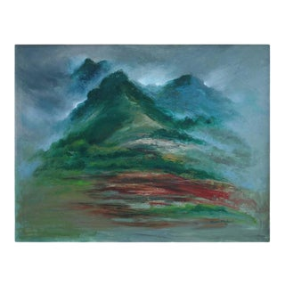 """Late 20th Century """"Waianae Mountains"""" Hawaiian Landscape Oil Painting For Sale"""