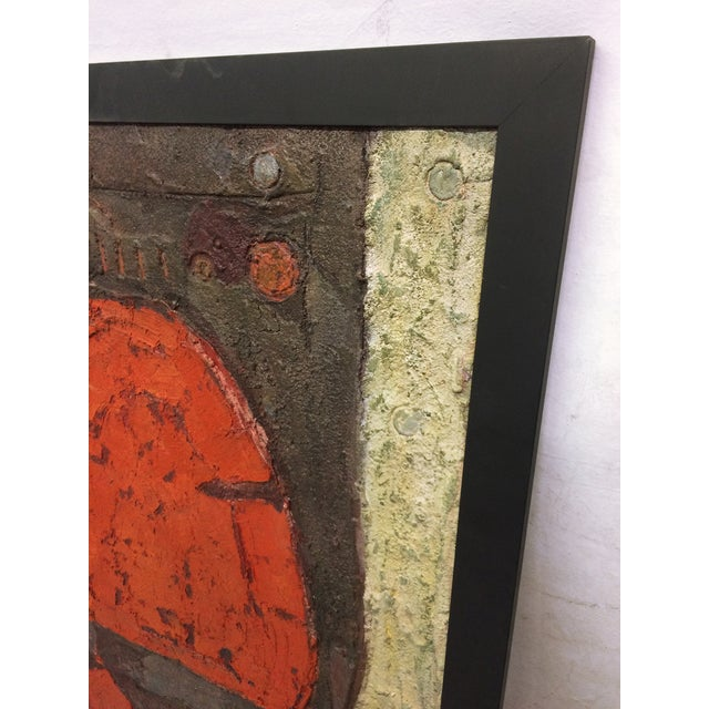 Oversize Textured Abstract Painting by Marti - Image 2 of 5