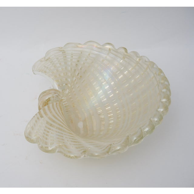 Barovier & Toso Large Scale Clam Shell Murano Glass Dish by Barovier E Toso For Sale - Image 4 of 8