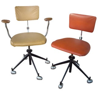 1960s Vintage Scandinavian Modern Jørgen Rasmussen Kevi Office Chairs - A Pair For Sale