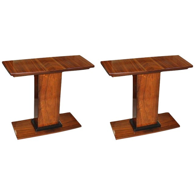 French Art Deco Console Tables - A Pair - Image 1 of 10
