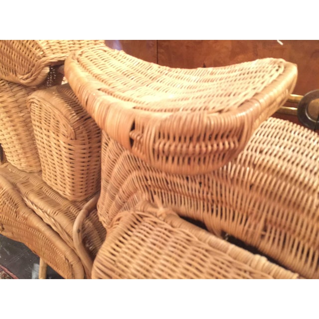 Wood 1960s Lifesize Woven Rattan Motorcycle For Sale - Image 7 of 9