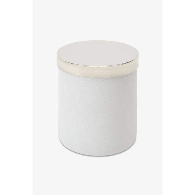 Contemporary Tela Container in White For Sale - Image 3 of 3