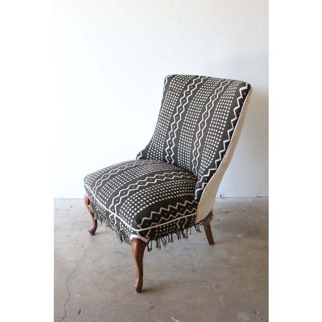Vintage African Mudcloth Chairs - A Pair - Image 4 of 9