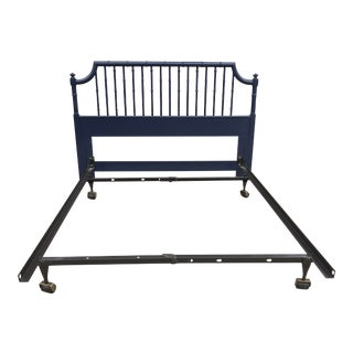 Thomasville Chinoiserie Bamboo Headboard & Metal Bedframe For Sale