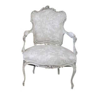 Rococo Antique French Dove Gray Chair