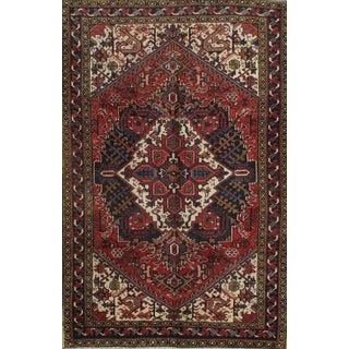 """Persian Hand-Knotted Heris Rug-5'x7"""" For Sale"""