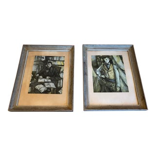 Vintage Framed Paul Cezanne Prints — a Pair For Sale