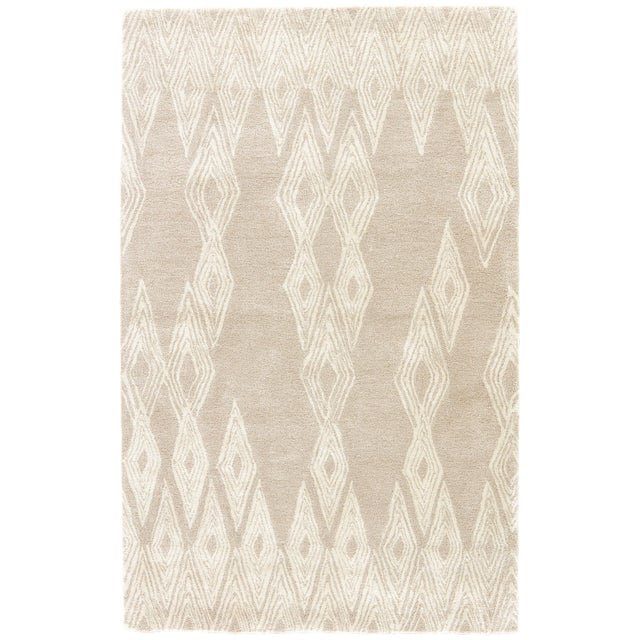 Nikki Chu by Jaipur Living Mulberry Handmade Geometric Gray/ Cream Area Rug - 2′ × 3′ For Sale In Atlanta - Image 6 of 6