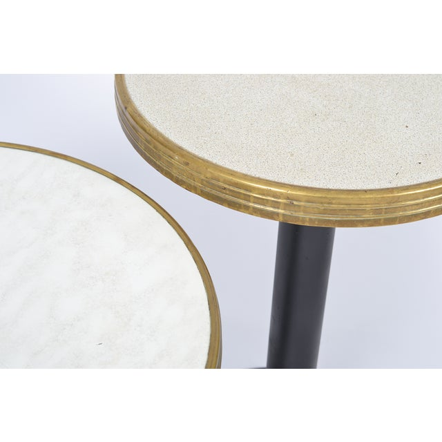 French Art Deco Bistro Tables - Pair - Image 4 of 10