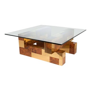 Mid-Century Modern Cityscape Coffee Table by Paul Evans For Sale
