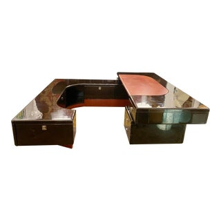 1970s Executive Ebony Desk by Fabio Lency for Bernini For Sale