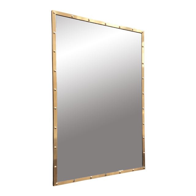 Nautical Brass Frame Mirror - Image 1 of 9