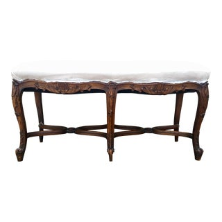 19th Century Louis XV Carved Bench For Sale