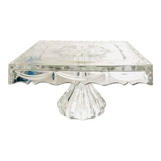 Godinger Lead Crystal Pedestal Cake Stand For Sale