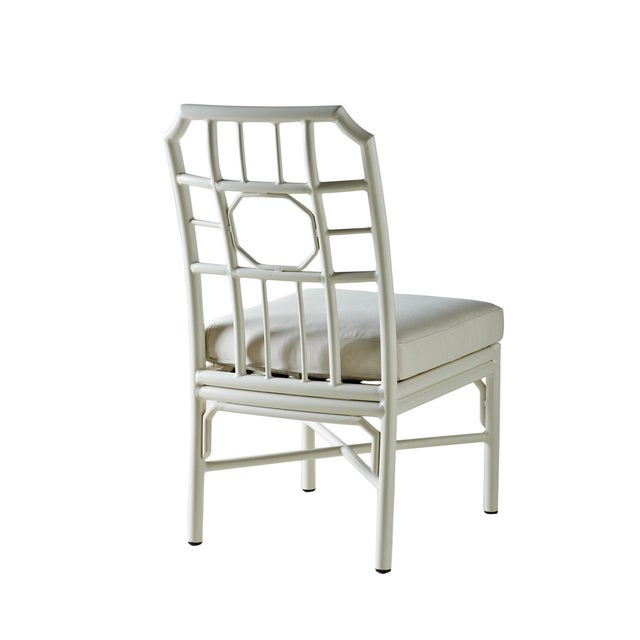Pair of Regeant White 4 Season Side Chairs With Cushions - Image 2 of 3