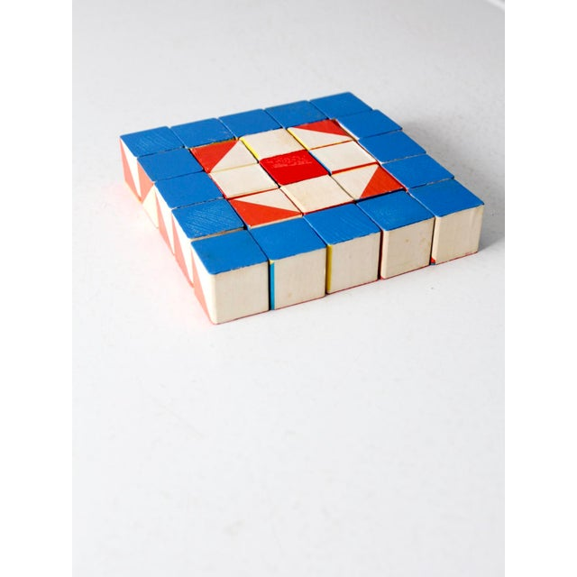 Playskool Color Cubes Toy Blocks Circa 1970 For Sale - Image 5 of 12