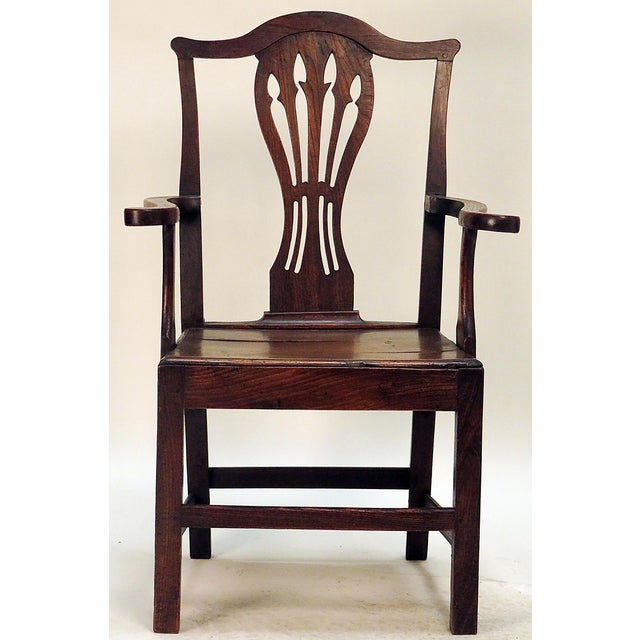 This is an Oak Georgian armchair. Circa 1790. Period: 18th Century and Earlier; 1790 Region: England Condition: Good...
