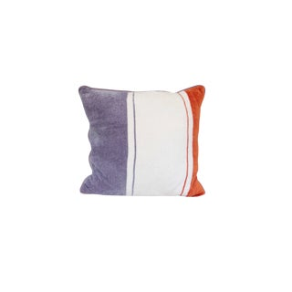 Handmade Chenille Suede Square Pillow For Sale