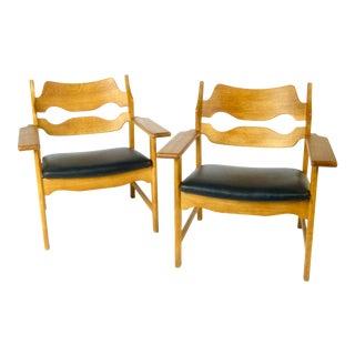 Vintage Mid Century Henning Kjaernulf Razor Chairs- A Pair For Sale