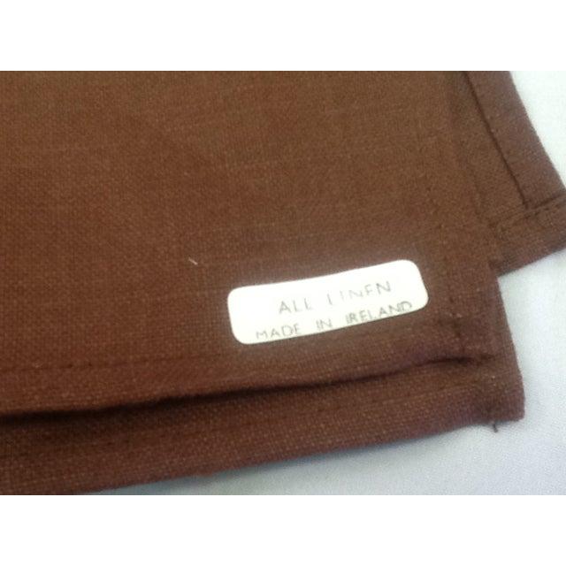 Irish Brown Linen Napkins - Set of 8 - Image 3 of 6