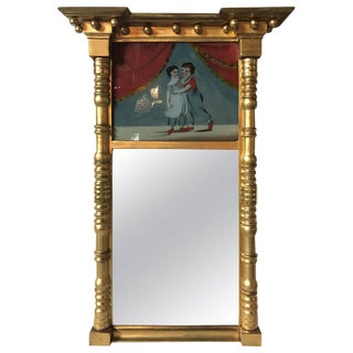 19th Century Federal Guild Gold Framed Wall Mirror For Sale