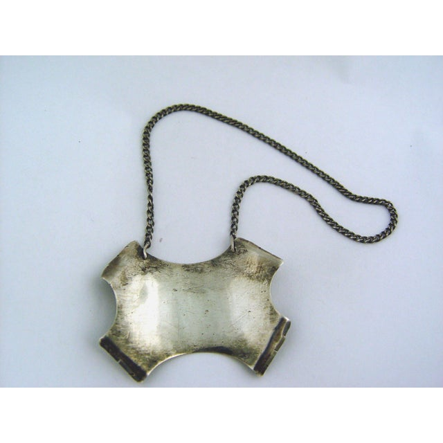 Rustic Silver Taxco Brandy Decanter Label For Sale - Image 3 of 3