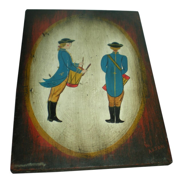 Vintage Painted Soldier Painting - Image 1 of 5