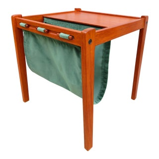 Furbo Mid Century Danish Modern Teak Magazine Rack Table For Sale