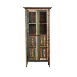 Reclaimed Wood Display Cabinet Hutch For Sale