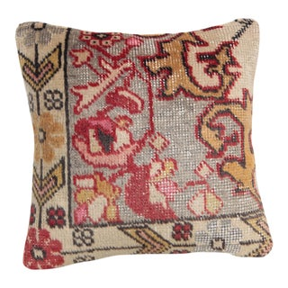 Hand Knotted Turkish Oushak Carpet Pillowcase For Sale