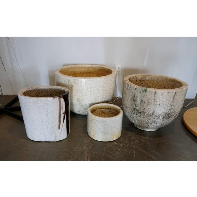 1960s Crackled Glaziers Crucible Planter For Sale - Image 5 of 8
