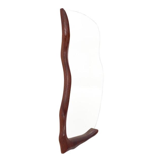 1960s Mid Century Modern Wabi-Sabi Teak Mirror For Sale