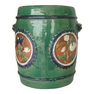 Asian Glazed Garden Stool For Sale