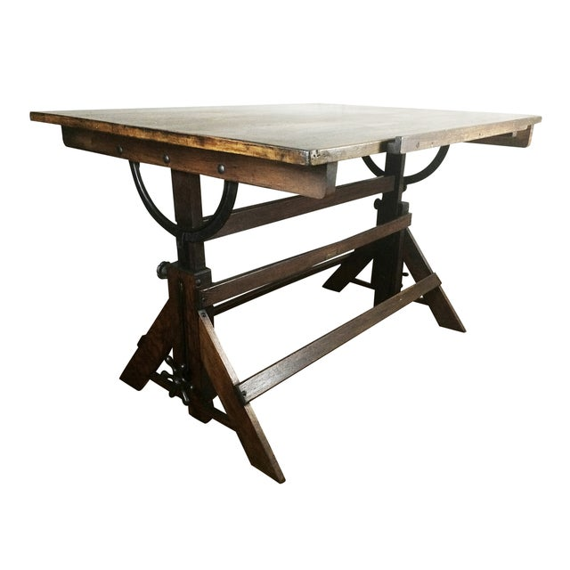 Antique Drafting Table - Image 4 of 5