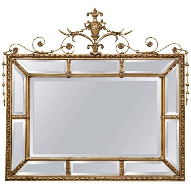 Adams Style Beveled Mirror in Finely Carved Frame For Sale - Image 11 of 11