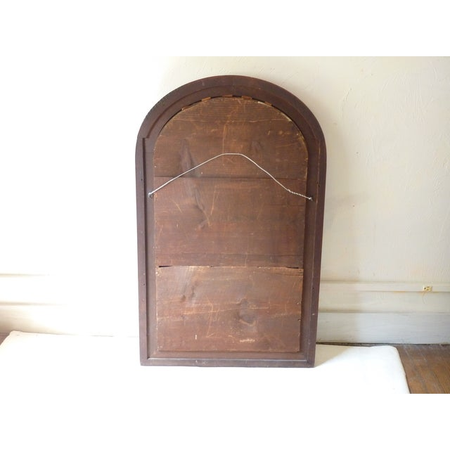 Late 19th Century Curve Top Walnut Mirror For Sale - Image 5 of 6