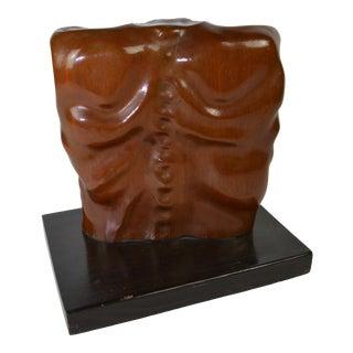 Wood Carving Mans Torso For Sale